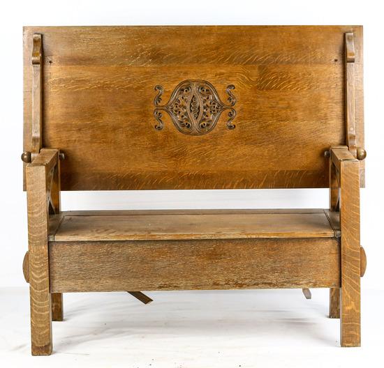 Convertible Oak Coffee Table Bench