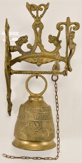Victorian Ornate Brass Door Bell