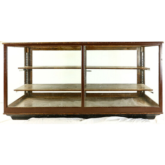 Oak Glass Shelf Case
