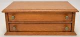 Small 2-Drawer Oak Storage Chest
