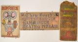 Lot of 3 Vintage Wooden Menu Signs