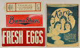 Lot of 4 Advertising Signs