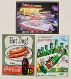 Lot of 3 Contemporary Advertising Signs