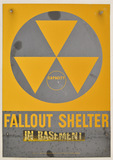 1950's Fallout Shelter Sign
