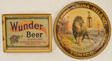 Antique Tonic & Beer Liquor Signs (2)
