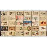 Lot of 30 Bernhardt Wall Postcards