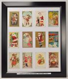 Antique Santa Claus Framed Christmas Cards