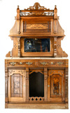 Victorian Buffet with Over Mantle and Mirror