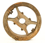 Vintage Wood Wheel for Line Shafther