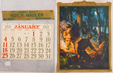 Hunting Advertisement & Calendar Page