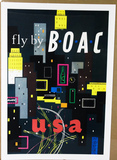 BOAC Airlines Poster