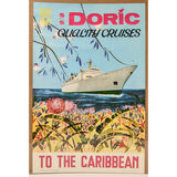 S.S. Doric Home Lines Cruise Poster Caribbean