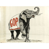 GOP Elephant Political Poster by Allied Printing