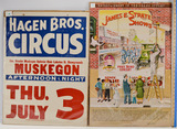 Lot of 17 Vintage Circus Posters