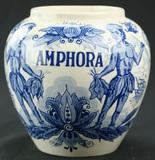 Delft Amphora Tobacco Jar