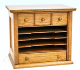 Wooden Small File Holder w/4 Drawers