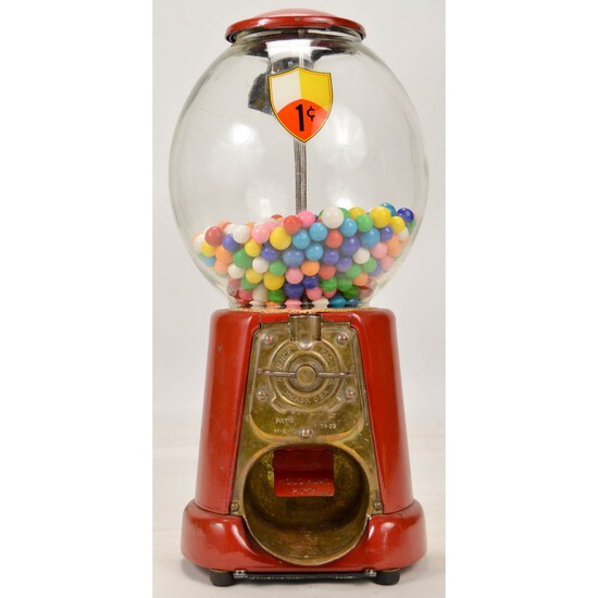 Advance 1 Cent Gumball Machine Patent 1923