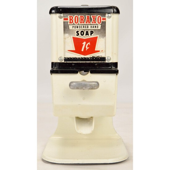 Borax Coin Op 1 Cent Soap Dispenser
