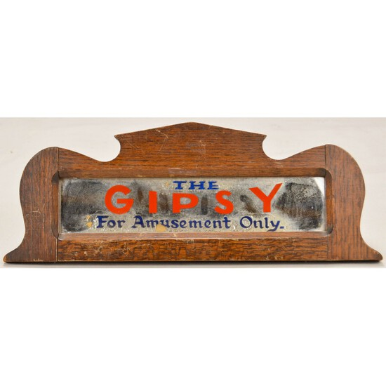 "Fortune Teller ""The Gipsy"" Original Oak Marquee"