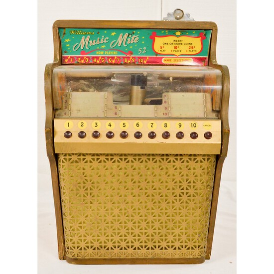 Williams Coin Op Music Mite Mini Jukebox