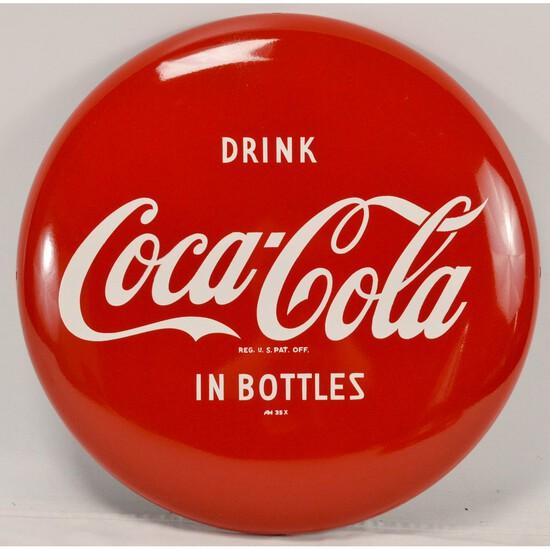 """16"""" Coca-Cola Button (Disc) Sign"""