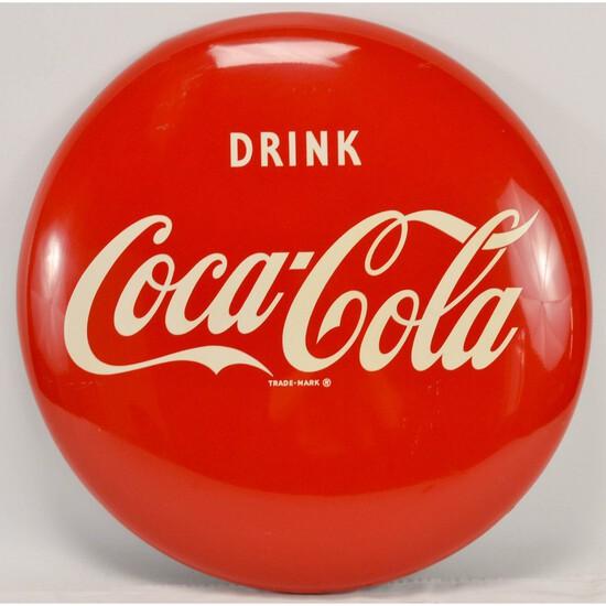 """24"""" Coca-Cola Button (Disc) Sign"""