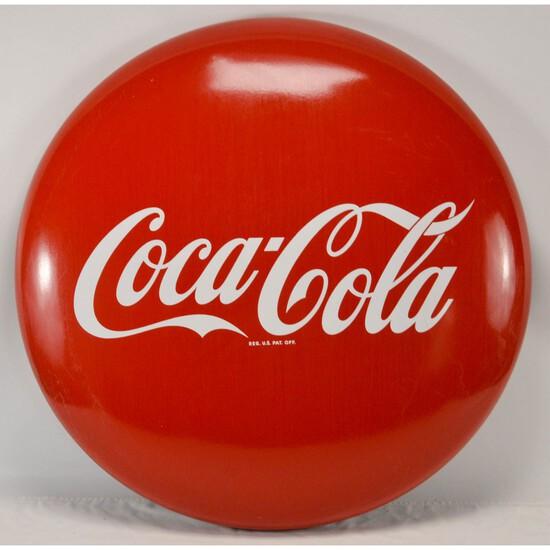 "36"" Coca-Cola Porcelain Button (Disc)"