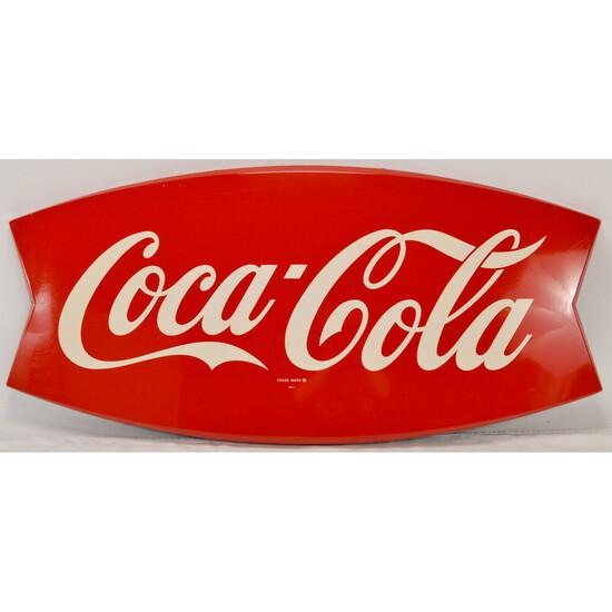 Coca-Cola Die Cut Fishtail Sign