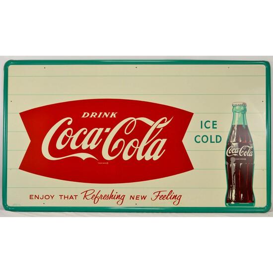 Large Coca-Cola Fishtail Bottle Sign