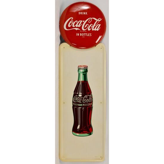 Coca-Cola Bottle Pilaster Sign
