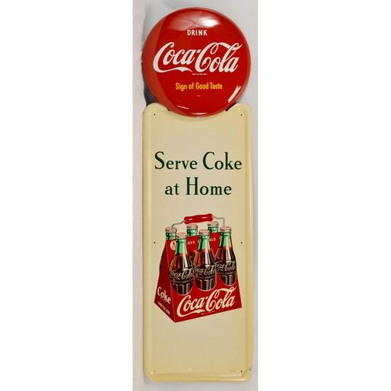 Coca-Cola 6 Pack Pilaster Sign