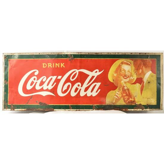 Vintage Drink Coca-Cola Tin Sign