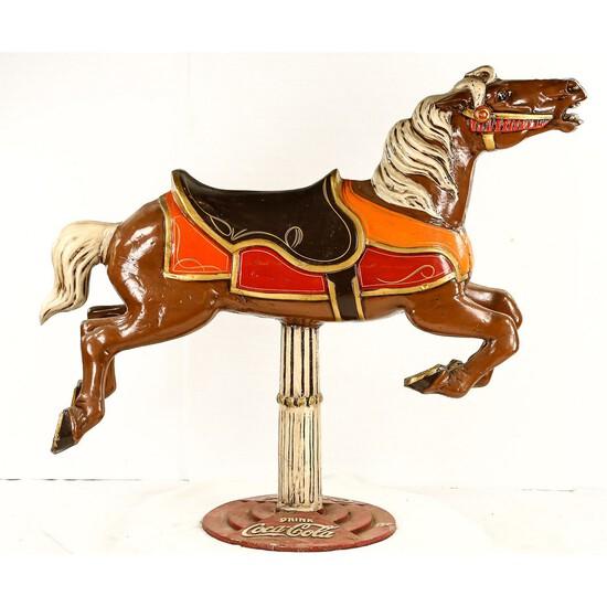 Contemporary Aluminum Carousel Horse