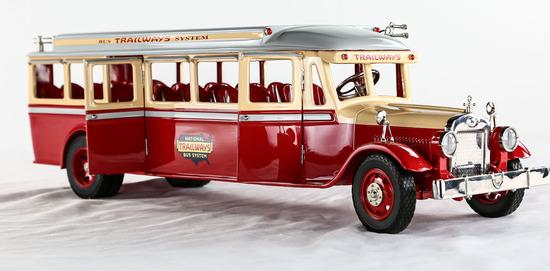 1930's Trailways Bus Model