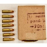 Russian Tokarev 7.62x25 Pistol Ammunition
