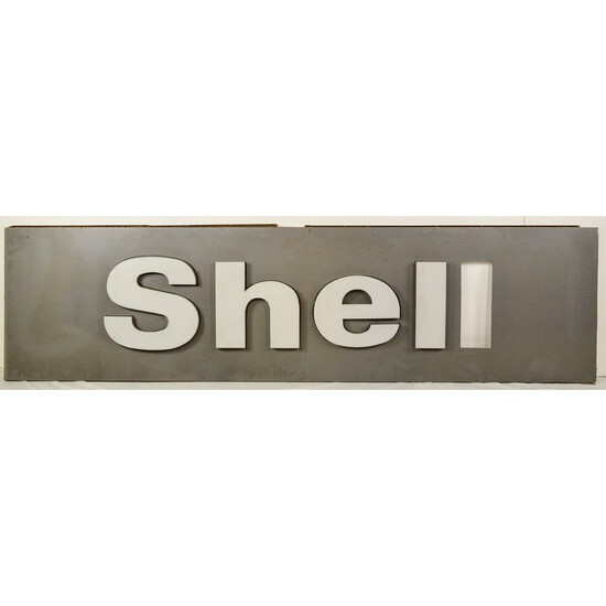 2 Fiberglass Shell Oil Signs