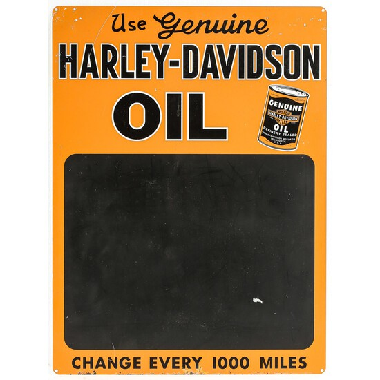 Harley-Davidson Oil Single Sided Advertising Sign