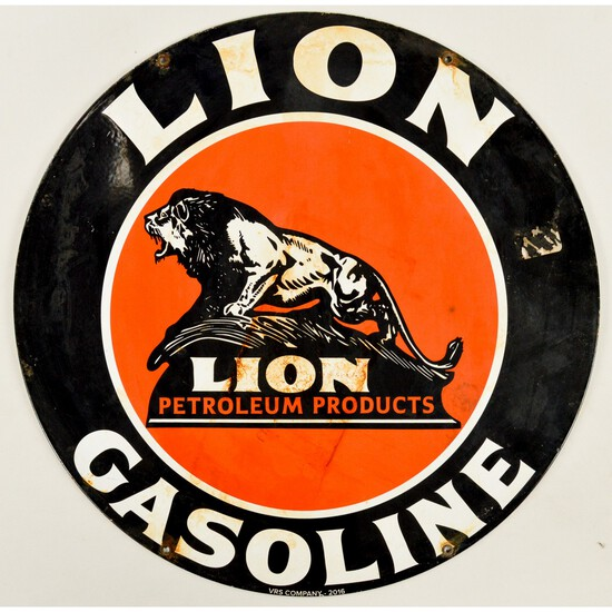 Contemporary Lion Gasoline Sign