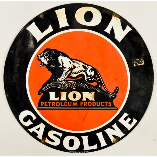 Contemporary Lion Gasoline Sign