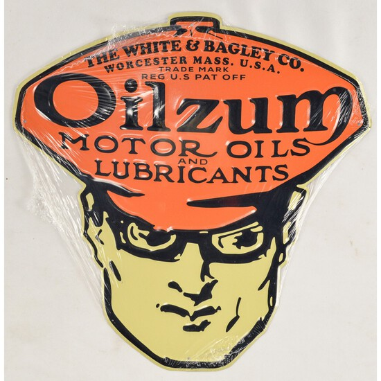 Oilzum Enameled Metal Sign