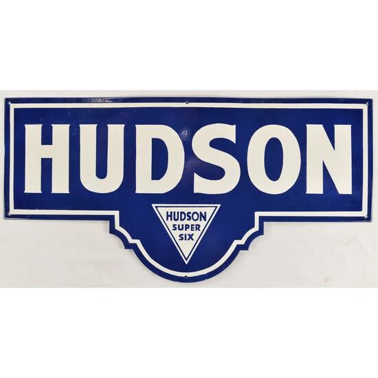 Metal Enameled Hudson Super Six Sign