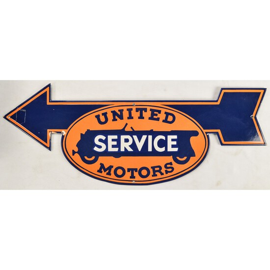 Metal Enameled United Motors Sign