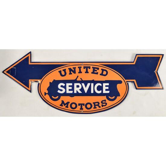 Metal Enameled United Motors Sign