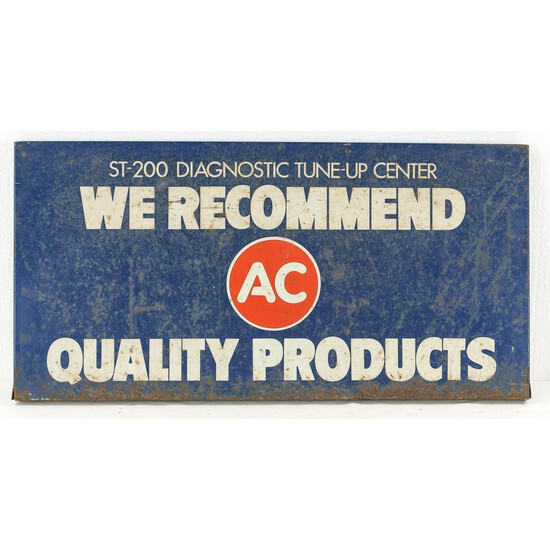 GM/AC ST-200 Diagnostic Center Single Sided Sign