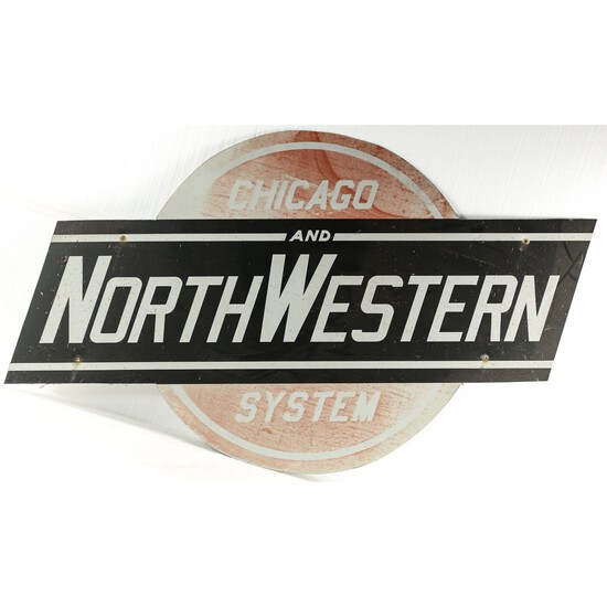 Chicago & North Western Single Sided Sign
