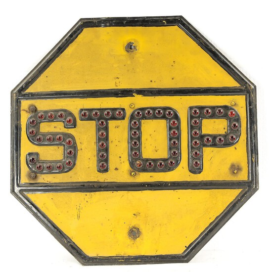 Pre 1954 Light Up Stop Sign