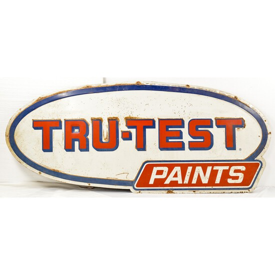Tru-Test Paints Embossed Sign Single Sided