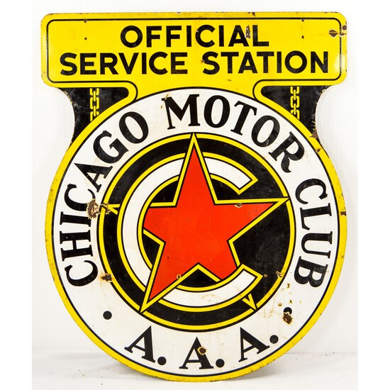 Chicago Motor Club Sign Double Sided