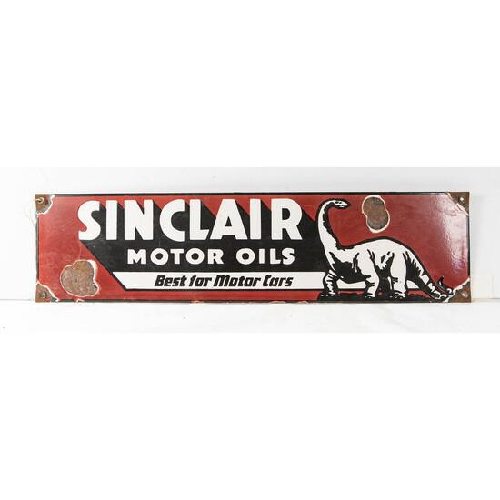 Sinclair Motor Oils Porcelain Sign