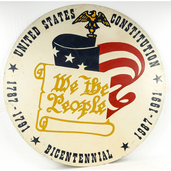 United States Constitution Bicentennial Sign